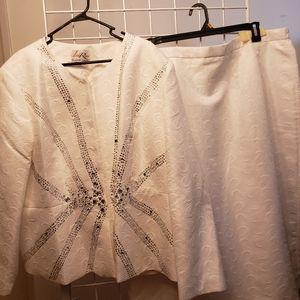 Lisa Rene Black Label Suit Skirt Set, Size 26W